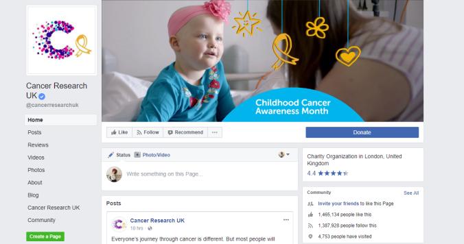Cancer Facebook Business