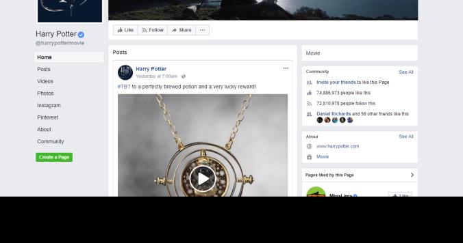 Business Facebook Harry potter