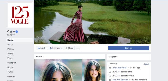 Vogue Facebook Magazine