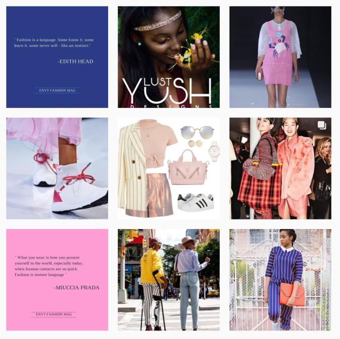 Envy Fashion Magazine Instagram Theme Grid