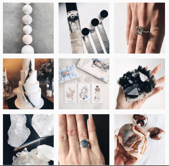 Instagram crystal theme grid vital vines blog